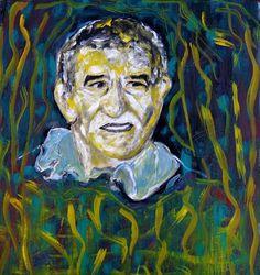 Una idea, mucho arte Gabriel García Márquez Óleo/cartulina, 50 x 47 cm. Autora Mary Carmen Murillo