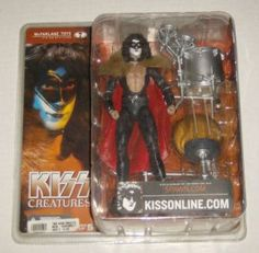 #McFarlaneToys #KISS Creatures 1982 Tour Set - Eric Carr The Fox Paul Starchild Gene Demon #Spawn -In Stock @DCCollectibles (click image to buy now). Order totals of $69 or higher (2 or more listings) ships for FREE. USA Continental only.