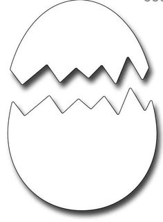 Frantic Stamper Die - Cracked Egg, Crack open a chocolate egg, its Easter time! This fun cracked egg die is sized to fit Vintage Bunny Vintage Duckling and Vintage Chick The die is hollow to make it easy to position on patterend Easter Bunny Template, Bunny Templates, Easter Projects, Easter Crafts For Kids, Bunny Crafts, Easter Art, Easter Egg Outline, Easter Decor, Easter Eggs