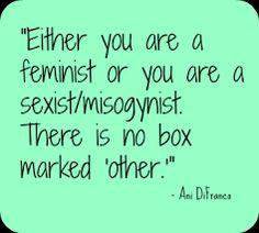 Si no eres feminista eres sexista. No hay otra caja marcada.