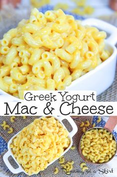 Greek Yogurt Mac and Cheese recipe - Healthy & Creamy. This easy, homemade cheese sauce makes the perfect healthy Mac and Cheese using plain greek yogurt. Great clean eating recipe for kids or adults. / Running in a Skirt Best Mac And Cheese Recipe Easy, Healthy Mac N Cheese Recipe, Homemade Cheese Sauce, Greek Yogurt Recipes, Recipes With Plain Yogurt, Greek Yogurt Pasta, Plain Greek Yogurt, Baby Food Recipes, Recipes