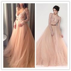 Wholesale Wedding Dresses - Buy A Perfect Winter Wedding Dress Blush Pink Lace Tulle V-neck Floor-length Long Sleeves A-line Wedding Gown With Gold Belt, $109.74 | DHgate.com