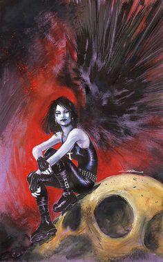 Death // artwork by Yildiray Cinar Sandman Gaiman, Death Sandman, Delirium Sandman, Neil Gaiman, Morpheus Sandman, Comic Character, Character Design, Vertigo Comics, Fan Art