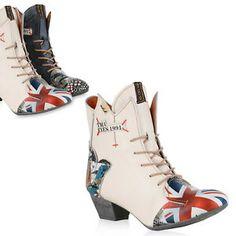 63330ebdc19c4 TMA Damen Schnürstiefeletten Leder Boots Print Stiefeletten 826066 Trendy