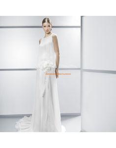 Speziale ärmellose kolumne Hochzeitskleider aus Chiffon Vestidos de ...