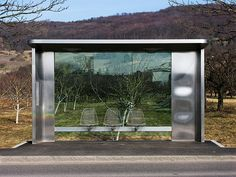 Vitra Bus Stop.  Bus stop designed for the Vitra design museum in Germany.
