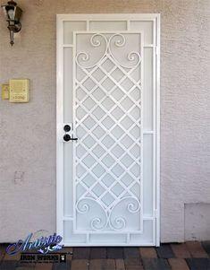 Wrought Iron Security Screen Door - Designed by James Hiltunen