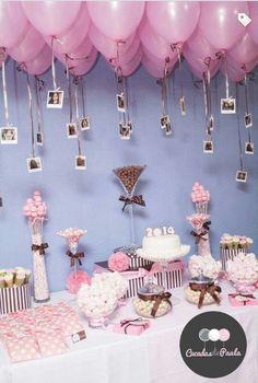 Mesa De Dulces Ideas Birthday Party E Birthday Decorations Balloon Decorations, Birthday Party Decorations, Baby Shower Decorations, Balloon Ideas, Sweet 16 Decorations, Quinceanera Decorations, Birthday Backdrop, Table Decorations, 16th Birthday