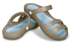 d1a3db7217f Crocs Cleo II - Khaki and Sky Blue