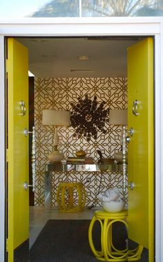 Palm Springs Bedroom: Travelmoon: Palm Springs Hollywood Glam Home Tour