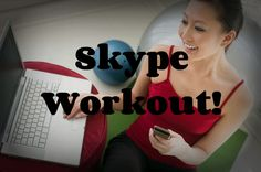 Get active together over Skype! Not only is it a fun and healthy way to pass the time but being active together and releasing endorphin's aids bonding. Weights, sit-ups, push-ups, yoga, squats and j. jacks are all exercises that can be performed on the spot (no readjusting the camera). My man and I wanna start doing this together! #LDR #workout #Skype #longdistance #activity Cute Romance, I Really Love You, Fit Couples, Online Yoga, Ldr, Significant Other, Long Distance, My Man, Weights