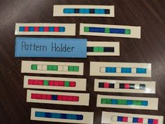 Great idea for sharing patterns during calendar time.