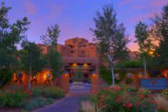 The Inn and Spa at Loretto - quite a beautiful spot in the heart of lovely Santa Fe!  From http://nomadicpursuits.com/top-photo-spots-in-santa-fe/