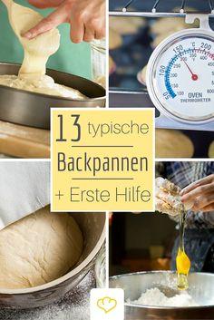 Diese 13 Fehler solltet ihr beim Backen vermeiden! Schon zu spät? Dann lest unsere Erste Hilfe Tipps und rettet Kuchen, Muffins und Gebäck!