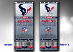 Houston Texans Invitation Houston Texans by GraphicsToPick on Etsy