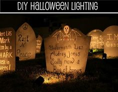 outdoor halloween decorations | ... outdoor Halloween decor-Super Easy and inexpensive but very effective