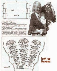Bolero Circular con Cuello Redondo Patron - Patrones Crochet