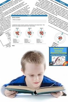 Integrate reading in your science classroom and help student tackle text with this atoms and isotopes guided reading and worksheet activity