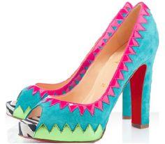 Zapatillas multicolor estilo étnico Christian Louboutin México dama.
