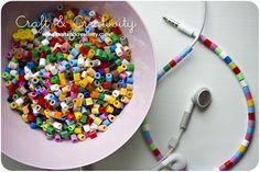Dagens pyssel, pimpade hörlurar – Craft of the Day, pimped earphones | Craft & Creativity – Pyssel & DIY