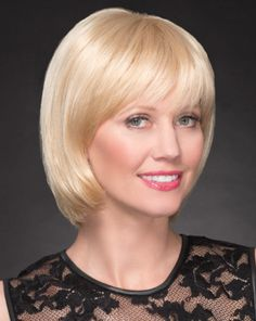 Camellia is created with our patented Syntress (synthetic) hair consisting of a special blend of fibers that have the closest look and feel to human hair today. Hand-made cap with 4.5 inch to 10 inch length Syntress fibers provide unmatched quality and comfort. Syntress wigs are ideal for the medical hair loss client, as well as for your clients that want minimum care and upkeep. White Blonde, Golden Blonde, Best Wig Outlet, Hair Loss Medication, Modern Bob, Monofilament Wigs, Chin Length Bob, Full Bangs, Wig Making