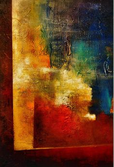MODERN Textured Abstract by Jagoda Lane Heart by JagodaModernArt, $430.00