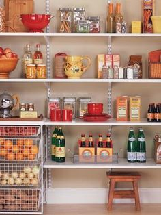 Pantry Organization Made Easy: Make use of adjustable shelving, and make room for all your favorite treats and products. From DIYnetwork.com