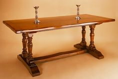 Twin Pedestal Dining Table Oak