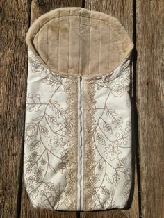 Cream Embroidered print with Hand Crocheted Lace by ThePilaShoppe