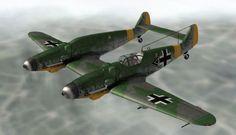 WWII Messerschmitt Bf 109Z Zwilling Free Aircraft Paper Model Download