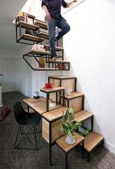 Incredible space saving furniture ideas cool diy home ideas homes interesting Space Saving Furniture, Home Decor Furniture, Diy Home Decor, Furniture Design, Furniture Ideas, Diy Home Interior, Interior Stairs, Escalier Design, Pallet Ideas Easy