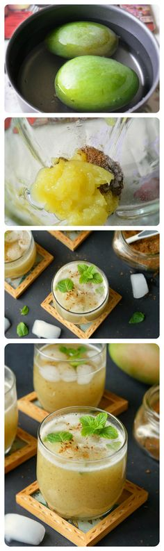 Aam ka panna - A refreshing summer coolant prepared with raw mangoes and flavored with spices.