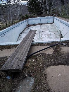 Abandoned Swimming Pool 1, via Flickr.