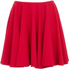 Alexander McQueen Flared wool skirt ($1,200) ❤ liked on Polyvore