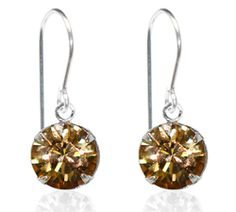 Gold Single Crystal Drop Earrings - $9.80