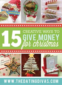 Cute and creative ways to give money as gifts this Christmas!