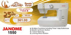 Janome 1550 #ramadan #kareem #discount #sale #sewing #machine #janome #stitch #fashion #online #mall