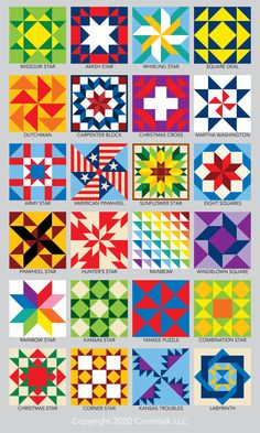 Lots of free quilt block patterns to inspire your next quilting project. - Mache El Selbst - Do it Your Own - of free quilt block patterns and templates. Simple and easy blocks for beginners. Quilt Square Patterns, Barn Quilt Patterns, Pattern Blocks, Square Quilt, Barn Quilt Designs, Quilting Designs, Painted Barn Quilts, Barn Signs, Star Quilt Blocks