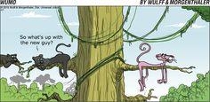 WuMo Comic Strip on GoComics.com } Pink Panther humor