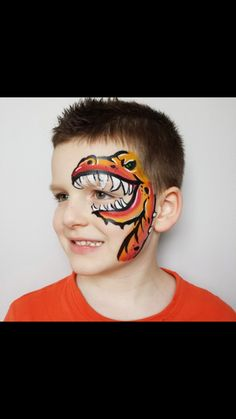 Dino eye Dinosaur Face Painting, Face Painting For Boys, Le Face, Face And Body, Mask Painting, Body Painting, Balloon Animals, Face Paintings, Adult Halloween