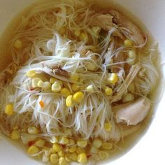 Young Grasshopper: Summer Soup {Quick Sweet Corn Vermicelli Soup Recipe}