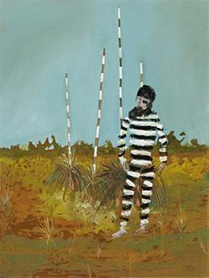 Escaped Convict by Sidney Nolan Australian Painting, Australian Artists, Figure Painting, Figure Drawing, Sidney Nolan, Great Paintings, Portrait Paintings, Portraits, Victoria Art