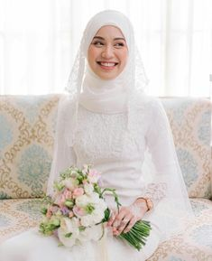 Muslim Wedding Gown, Malay Wedding Dress, Kebaya Wedding, Muslimah Wedding Dress, Pakistani Wedding Dresses, Dream Wedding Dresses, Bridal Hijab, Hijab Bride, Wedding Hijab Styles