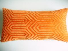 Orange Geometric Pattern Pillow Cover | Habitation Boheme