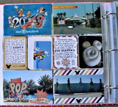 Disney Project Life Scrapbook Page Layout - Pop Century by Jennifer of A Heart Full of Love