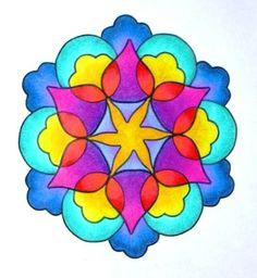 Mandala, designed with Mandala Painter 3, colored with pencils.