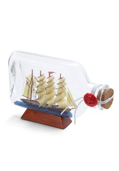Vestige in a Bottle. Capture a remnant of the seafaring past with this vintage-inspired decor. #gold #prom #modcloth