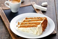 Slice of carrot cake on vintage slate chalk board background by Lisovskaya Natalia, via ShutterStock Lo Cal Desserts, Healthy Desserts, Cake Recipes, Dessert Recipes, Cake Stock, Cupcake, Types Of Cakes, Cake Boss, Eat Dessert First