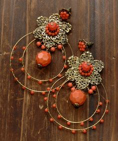 """Feel free to use 15% discount coupon code """"christmas2014"""". Expiring on 31 Dec 2014. Bohemian Long Earrings"""