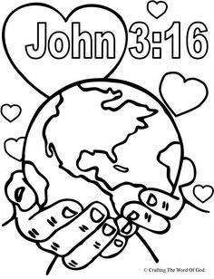 free coloring pages of a world globe for children | For God So Loved ...